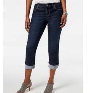 Style & Co. Cuffed Capri Curvy Fit Jeans 8